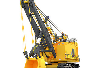 Rope Shovel 3D model machine