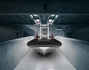 3D model Zodiac RIB Boat