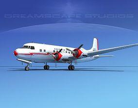 Douglas DC-6 Ansett 3D model