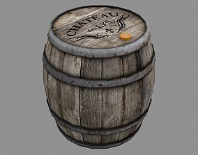 rustic Wooden Barrel 3D model