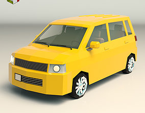 3D model Low Poly Minivan 01