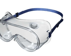 3D asset Safety goggles glasses