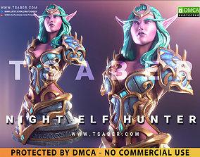 3D print model Night Elf Hunter Bust - Warcraft