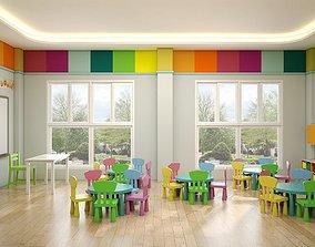 childhood 3D model Kindergarten