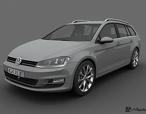 Volkswagen Golf Variant 2014 3D model