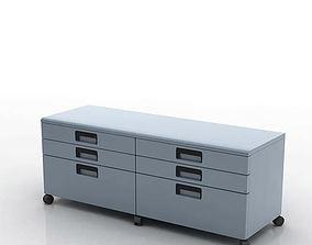Modern Horizontal Filing Cabinet 3D