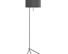 electric Black Floor Lamp 3D Model