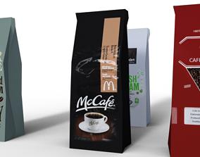 3D asset Coffee Bags
