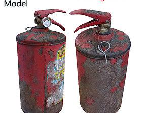 3D asset Ultra realistic Fire Extinguisher Scan model