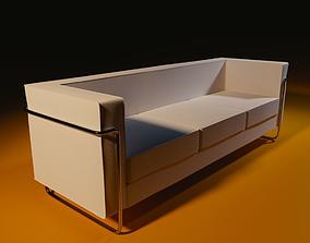 3D asset Bauhaus desing sofa