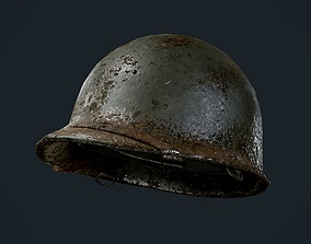 WW2 American Soldier Military Helmet Game Ready 3D asset