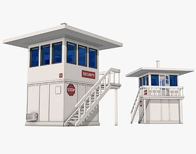 3D Security Guard House Model