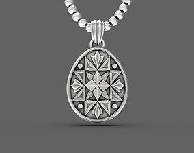 Easter egg Pisanka pendant with 3D print model 3