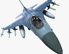 3D asset f16 fighter