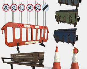 Street Set 3D asset