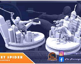 3D printable model Scarlet Spider Diorama