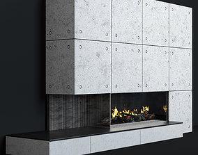 3D Fireplace modern 10