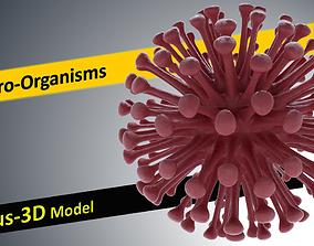 VR / AR ready Microbiology Models-Virus 3D Model