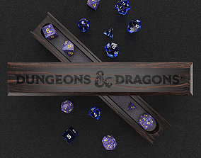 Macassar Ebony Dice Vault - RPG Game 3D model