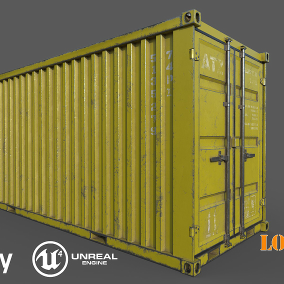 Old Yellow Shipping Container