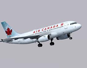 3D asset Airbus A319 Air Canada