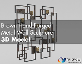 3D Brown Hand Forged Metal Wall Sculpture