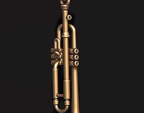 Trumpet pendant 3D printable model