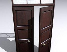 Door 24 Wooden double 3D model
