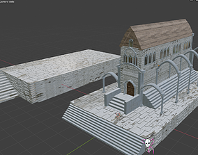 Cathedral Gothic Style compatible with any 3D model 1