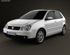 3D model Volkswagen Polo Mk4 5-door 2001