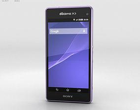 Sony Xperia A2 SO-04F Purple 3D