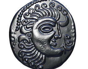 3D printable model celtic coin 3
