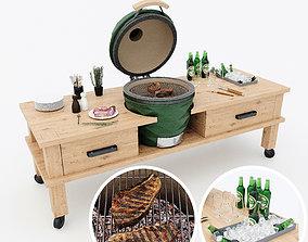 3D model Kamado grill 2