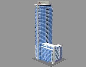 Marriott Courtyard Hotel Montreal 3D model city