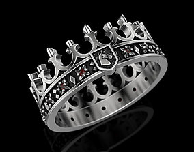 king Crown Ring 3D print model