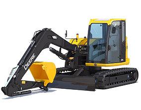 3D 85g Compact Excavator Deere 85G