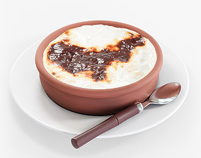 3D model Baked Rice Pudding