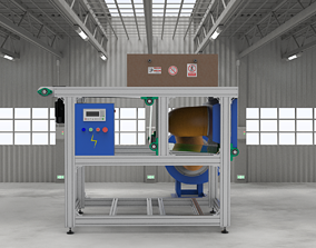 Rapid cooling conveyor 3D model