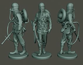 German soldier ww1 walk G5 3D print model
