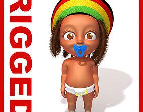 Baby Jake Rastafarian Rigged 3D