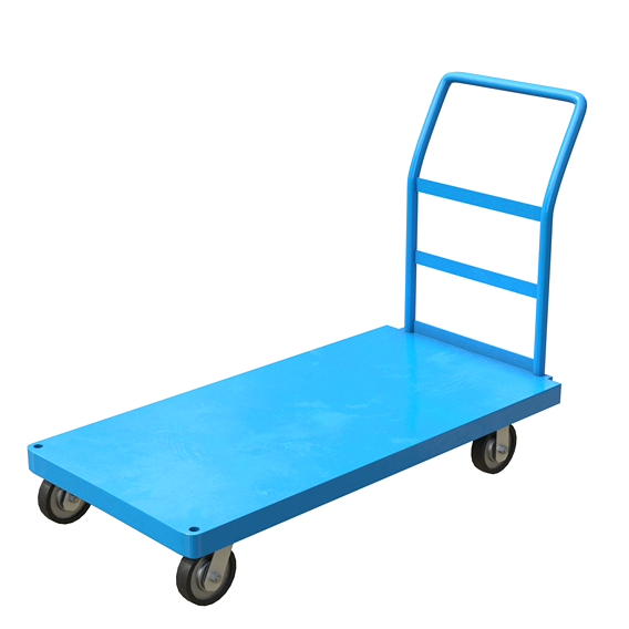 Cart Painted Blue