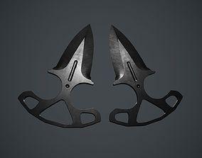 3D asset Shadow Dagger PBR Game Ready