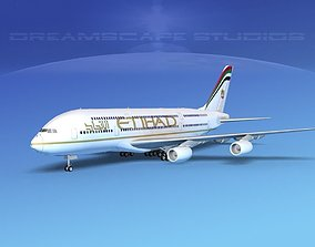 Airbus A380-800 Etihad Airways 3D