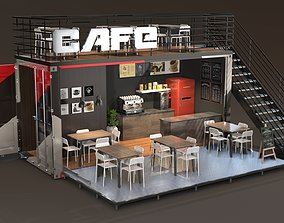 3D model Shipping Container Cafe
