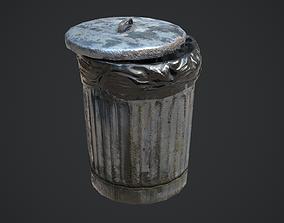 3D model Trash Can for Games