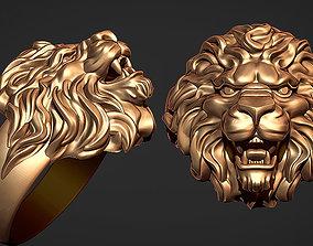3D print model ring lion wedding-ring