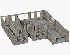 3D asset Western House Construction