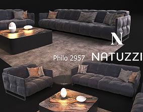 Sofa in modern style NATUZZI Philo 2957 3D model