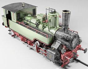 freight MAV 475 Steam Locomotive Tank Engine 3D model