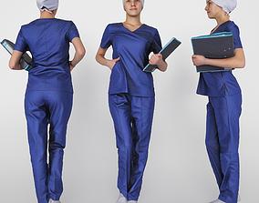 3D asset Surgical nurse 02